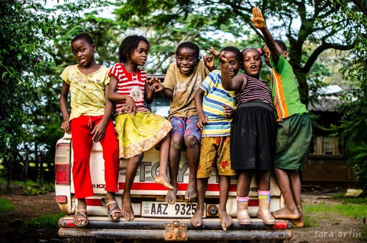 kids at the farm, Zambia