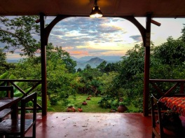 View from Casa Rosa Restaurant in Zomba, Malawi
