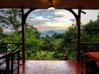 View from Casa Rosa Restaurant in Zomba, Malawi