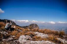 At the crater of Mount Mulanje, Malawi