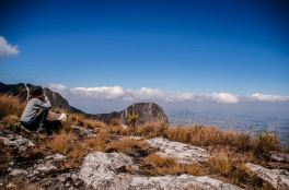 At the crater of Mount Mulanje, Malawi