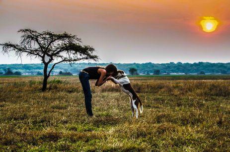 At the Zambian sunset